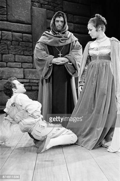 Rehearsals for the William Shakespeare play 'Measure for Measure' at The Royal Shakespeare Theatre, Stratford-upon-Avon. Pictured, Isabella , Duke...