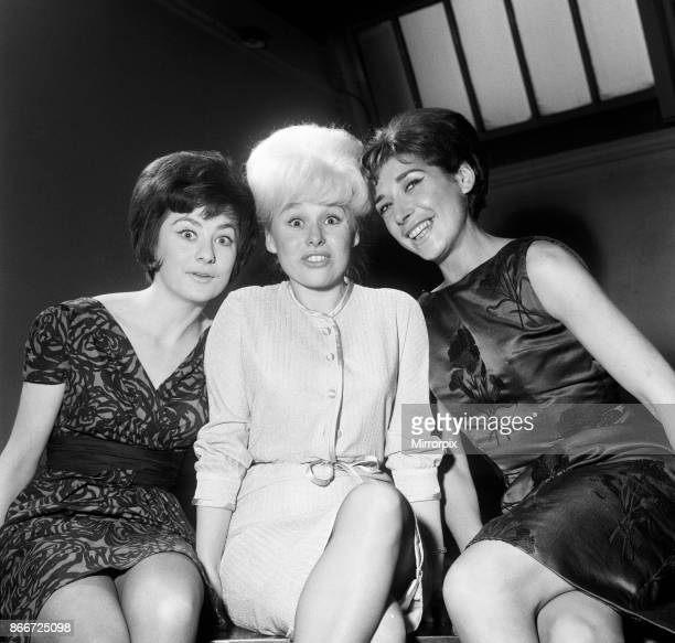 Rehearsals of 'The Rag Trade' at St Mary's Hall Crawford Street London Amanda Reiss Barbara Windsor and Miriam Karlin 2nd January 1963