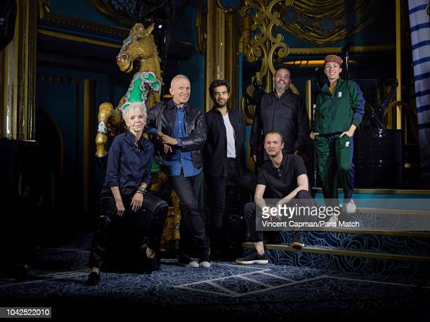 Rehersals at the Folies Bergere Theatre for The Fashion Freak Show created by fashion designer JeanPaul Gaultier who poses with his team Tonie...