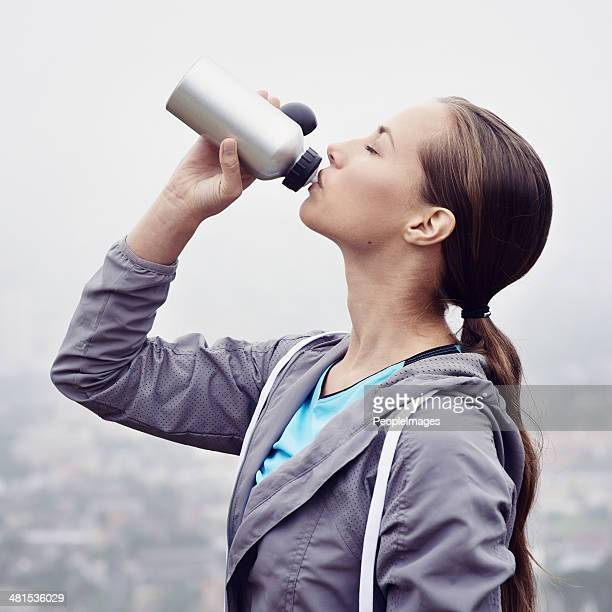 Rehydrating after a hectic jog