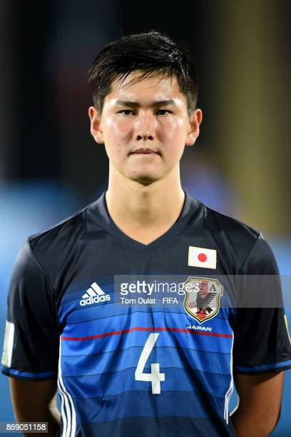 Rei Hirakawa of Japan looks on during the FIFA U17 World Cup India 2017 group E match between Honduras and Japan at Indira Gandhi Athletic Stadium on...
