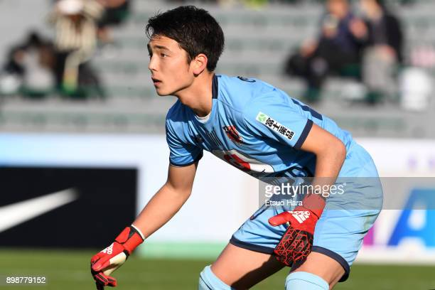 Rei Jones of Omiya Ardija in action during the Prince Takamado Cup 29th All Japan Youth Football Tournament semi final match between Omiya Ardija...
