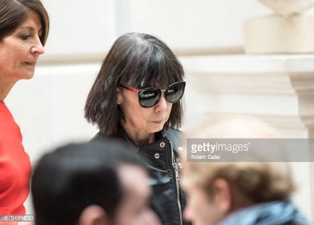Rei Kawakubo attends the 'Rei Kawakubo/Comme des Garcons Art Of The InBetween' Costume Institute Gala press preview at Metropolitan Museum of Art on...