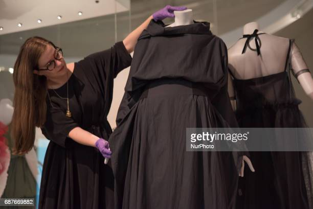 Rei Kawakubo of Comme Des Garçons collaboration with Maison Balenciaga for AW16 of the very first ever UK exhibition of the fashion designer...