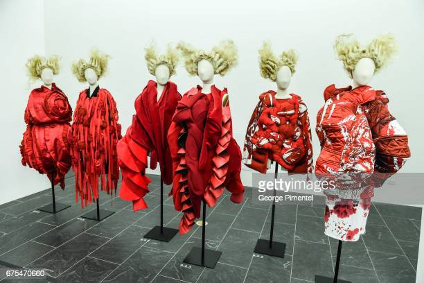 """Rei Kawakubo/Comme des Garcons: Art Of The In-Between"""" Costume Institute Gala Press Preview at Metropolitan Museum of Art on May 1, 2017 in New York..."""