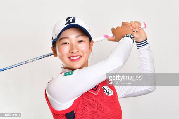 Rei Matsuda of Japan poses during the 2019 LPGA Portrait Session at Ryukyu Golf Club on March 5 2019 in Nanjo Okinawa Japan