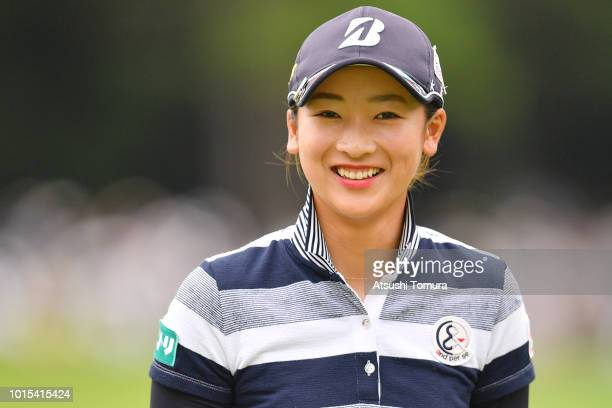 Rei Matsuda of Japan smiles during the final round of the Karuizawa 72 Golf Tournament at the Karuizawa 72 Golf North Course on August 12 2018 in...