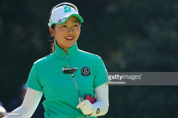 Rei Matsuda of Japan smiles during the final round of the KKT Cup Vantelin Ladies Open at Kumamoto Kuko Country Club on April 21 2019 in Kikuyo...