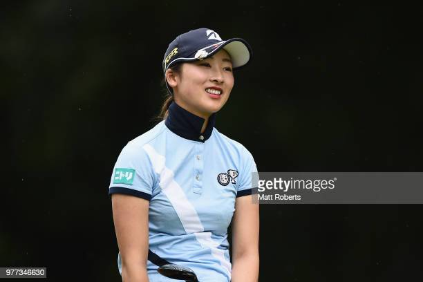 Rei Matsuda of Japan smiles during the first round of the Nichirei Ladies at the Sodegaura Country Club Shinsode Course on June 15 2018 in Chiba Japan