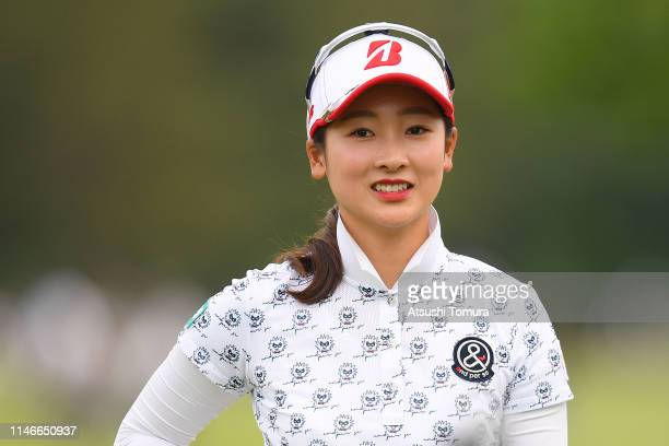 Rei Matsuda of Japan smiles during the first round of the Panasonic Open at Hamano Golf Club on May 03 2019 in Ichihara Chiba Japan