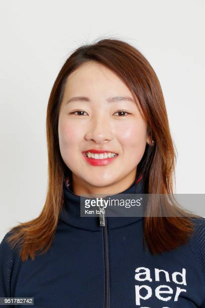 Rei Matsuda poses for photographs during the Japanese LPGA portrait session on February 26 2018 in Nanjo Okinawa Japan