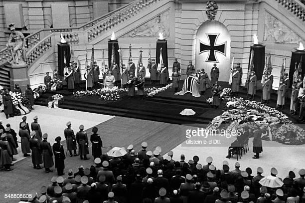 Reichenau Walter von *08101884 Generalfeldmarschall during World War II Germany State funeral in the courtyard of the Zeughaus in Berlin photograph...