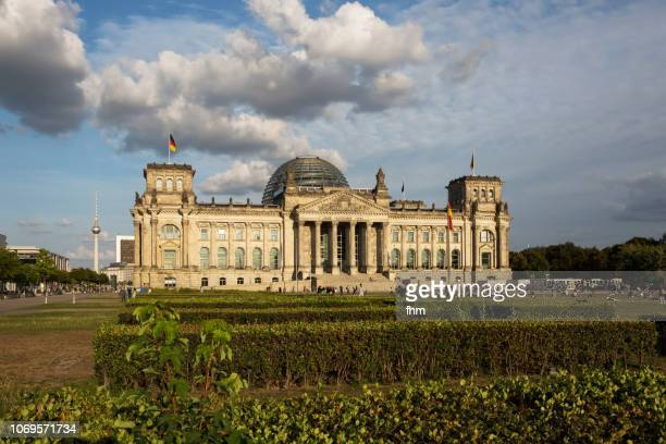 Reichstag and Berlin Television Tower  - Berlin, Germany