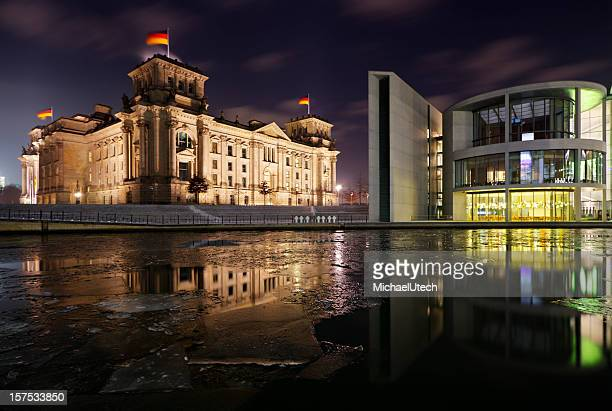 Reichstag And Spree In Winter