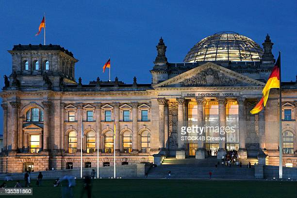 Reichstag at night, Berlin, Germany