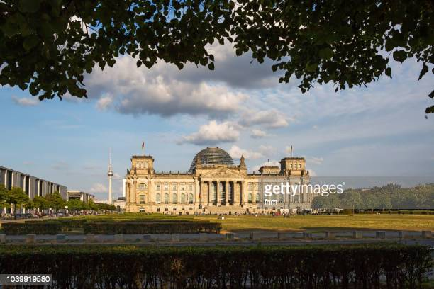 Reichstag building and Television Tower - Berlin, Germany