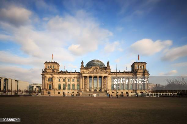 reichstag building (german parliament building) - berlin, germany - bundestag stock photos and pictures