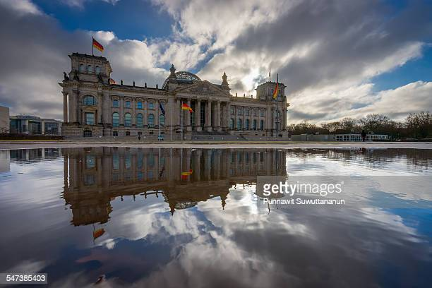 Reichstag Building reflection