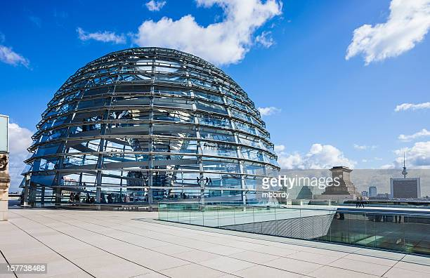 Reichstag building with dome in Berlin