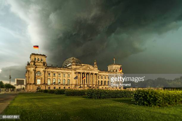 Reichstag under a stormy sky