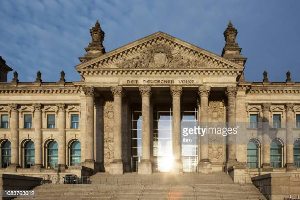 Reichstag west portal (Berlin, Germany)
