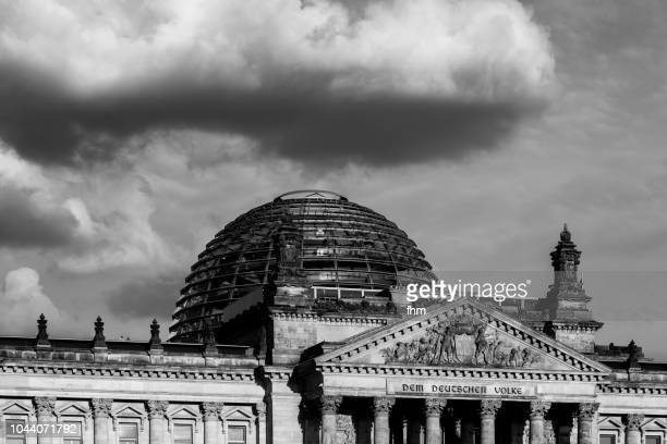 Reichstag with dramatic clouds - Berlin, Germany