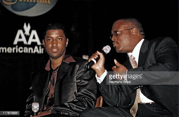 Reid and Babyface of LaFace Records on stage in May 1999 in Chicago, Illinois.