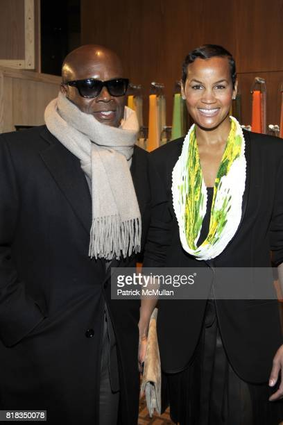Reid and Erica Reid attend Opening of the First HERMES Men's Store in New York at Hermes Men's Store on February 9, 2010 in New York City.