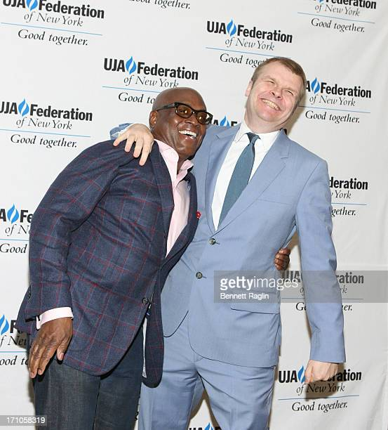 A Reid and Rob Stringer attend UJAFederation Of New York Music Visionary Of The Year Award Luncheon at The Pierre Hotel on June 21 2013 in New York...