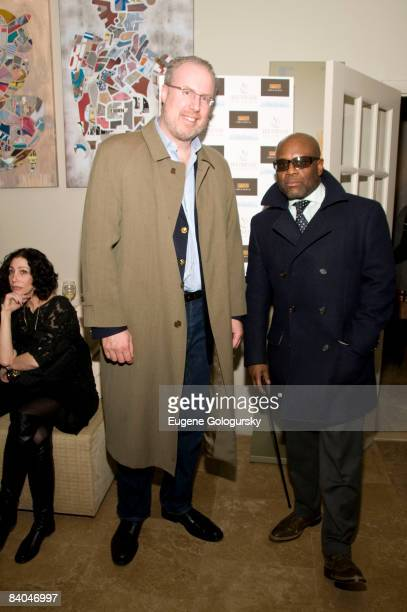 Reid and Steve Bartels attend the Launch of Holm Spa at Jeunesse Spa / Fabio Scalia Salon on December 15, 2008 in New York City.