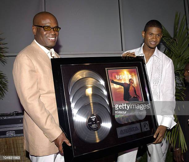 "Reid and Usher during Usher Celebrates Multi-Platinum Album ""8701"" which has Sold 5 Million Copies Worldwide at Pier 59 Studios in New York City, New..."