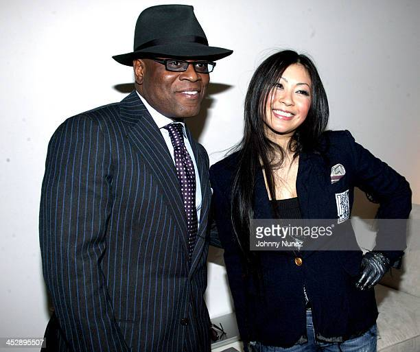 L A Reid and UTADA during BlackBook Magazine and Island Def Jam Present UTADA at SkyLight Studios in New York City New York United States