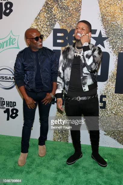 Reid and Yella Breezy arrive at the BET Hip Hop Awards 2018 at Fillmore Miami Beach on October 6 2018 in Miami Beach Florida