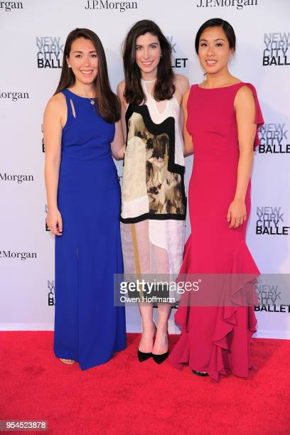 Reid Bergin Right Shirley Wuppl and Guest attend New York City Ballet 2018 Spring Gala at David H Koch Theater Lincoln Center on May 3 2018 in New...