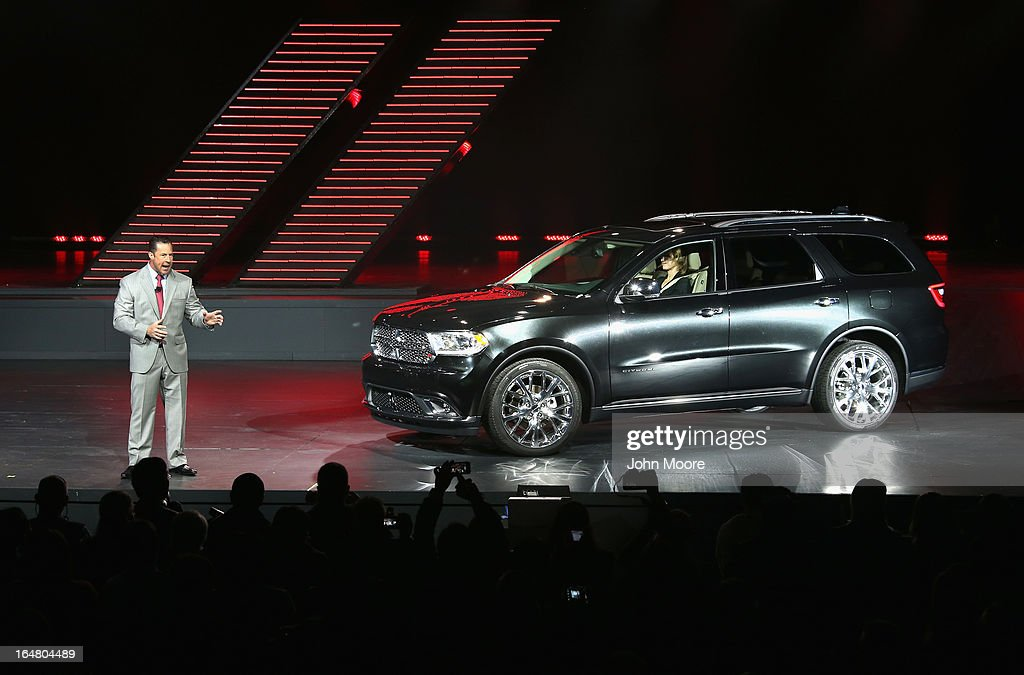 Reid Bigland, the CEO of Dodge and head of U.S. sales for Chrysler, introduces the Dodge Durango Citadel to the media at the New York Auto show on March 28, 2013 in New York City. The 113th annual auto show is open to the public from March 29-April 7 and features more than 1,000 cars plus the latest automotive technology.