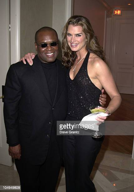 LA Reid Brooke Shields during The 28th Annual American Music Awards Arista Records After Party at St Regis Hotel in Century City California United...