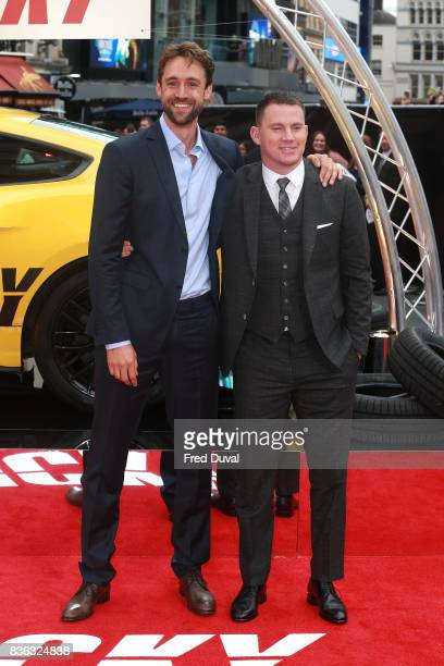 Reid Carolin and Channing Tatum arrive at the 'Logan Lucky' UK premiere held at Vue West End on August 21 2017 in London England