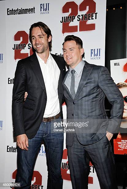 Reid Carolin and Channing Tatum attends the 22 Jump Street premiere at AMC Lincoln Square Theater on June 4 2014 in New York City