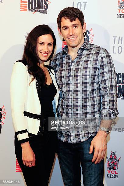 Reid Collums and Camille Balsamo attend the Dances With Films Festival Heroes Don't Come Home premiere on June 8 2016 in Los Angeles California