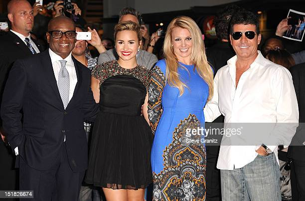 "Reid, Demi Lovato, Britney Spears and Simon Cowell arrives at the ""The X Factor"" Season 2 Premiere Party at Grauman's Chinese Theatre on September..."