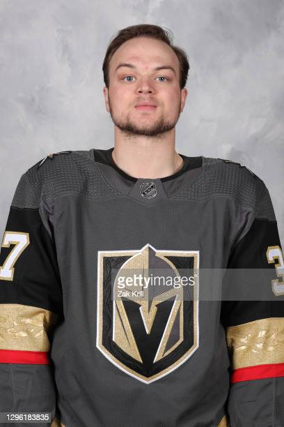 Reid Duke of the Vegas Golden Knights poses for his official headshot for the 2020-2021 season on January 3, 2021 at City National Arena in Las...
