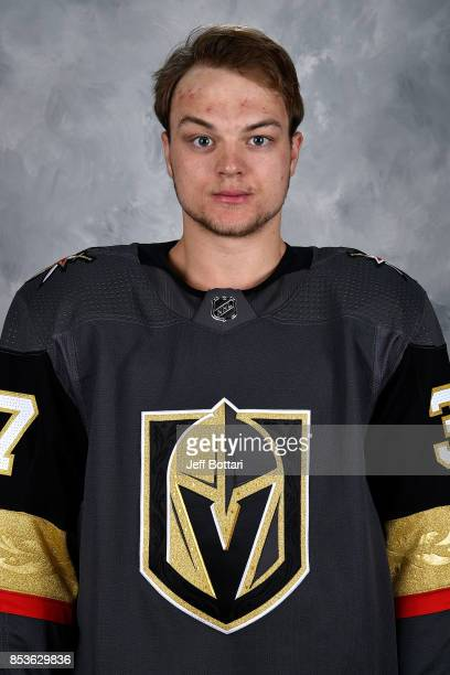 Reid Duke of the Vegas Golden Knights poses for his official headshot for the 20172018 season on September 14 2017 at the City National Arena in Las...