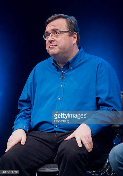 Reid Hoffman, chairman and co-founder of LinkedIn Corp., looks on during a panel discussion at the DreamForce Conference in San Francisco,...