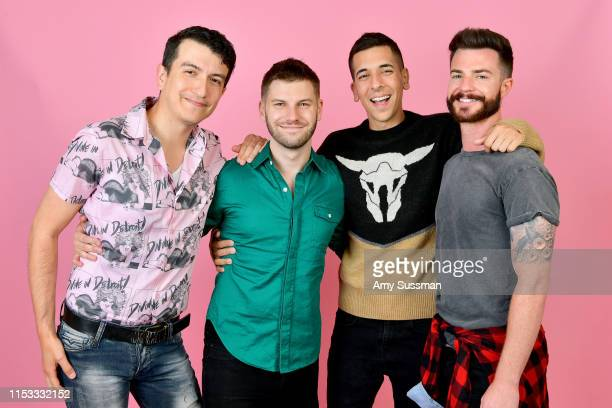 Reid Lepage Dan Hass Shawn Adeli and Jake Giles from the project Magic H8 Ball pose for a portrait during Revry's 4th Annual QueerX Festival on June...