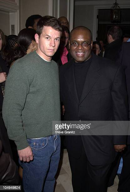 LA Reid Mark Wahlberg during The 28th Annual American Music Awards Arista Records After Party at St Regis Hotel in Century City California United...