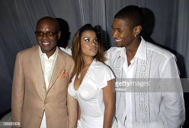 LA Reid Melinda Santiago and Usher during Usher Celebrates MultiPlatinum Album '8701' which has Sold 5 Million Copies Worldwide at Pier 59 Studios in...