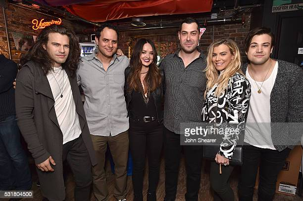 Reid Perry from The Band Perry CEO of Interscope Geffen AM Records John Janick Singer/songwriter Elizabeth Huett President of AR at Interscope Geffen...