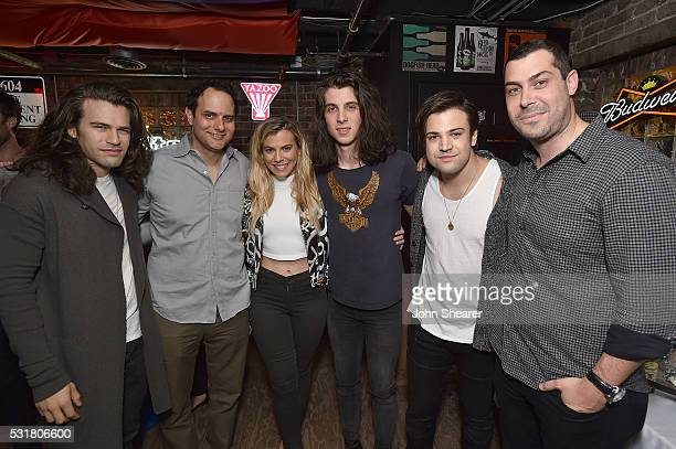 Reid Perry from The Band Perry CEO of Interscope Geffen AM Records John Janick Kimberly Perry from The Band Perry Singer/songwriter Billy Raffoul...