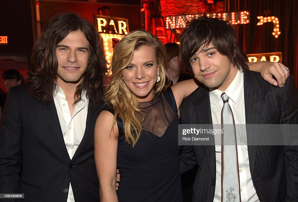Reid Perry, Kimberly Perry, and Neil Perry of The Band Perry attend the Big Machine Label Group Celebrates The 48th Annual CMA Awards in Nashville on November 5, 2014 in Nashville, Tennessee.