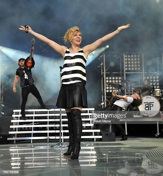Reid Perry Kimberly Perry and Neil Perry of The Band Perry perform at Nikon at Jones Beach Theater on May 31 2013 in Wantagh New York